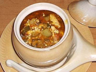 Томатно-сырный суп в духовке