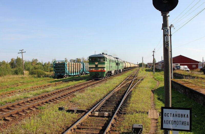2ТЭ116-449 на станции Плюсса