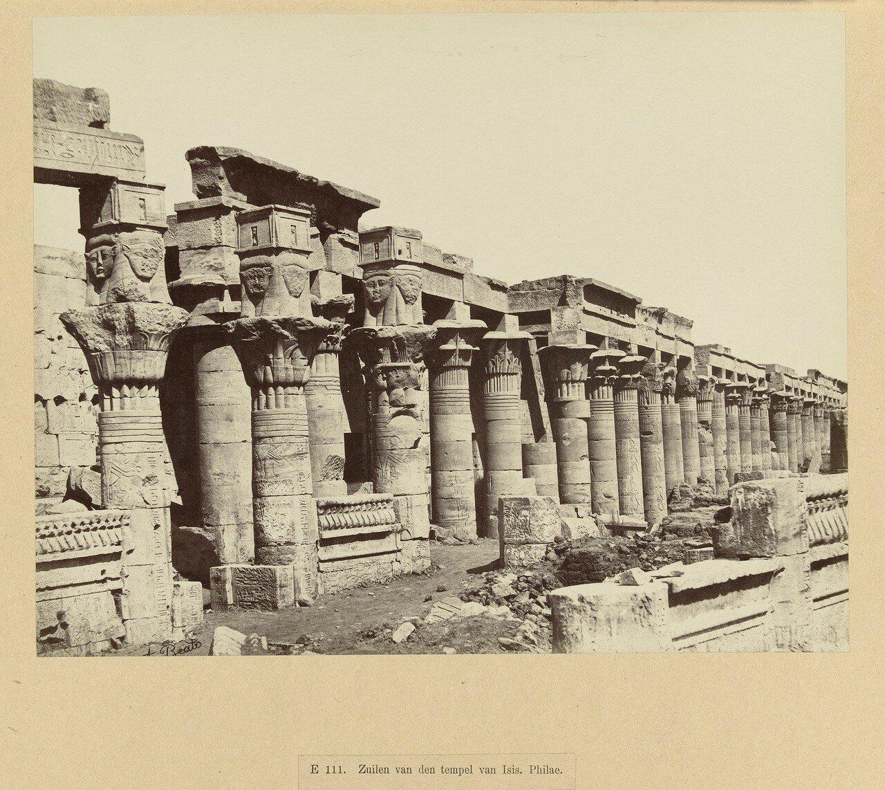 Филе. Колоннада храма Исиды.1897
