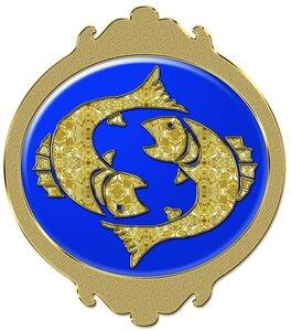 Рыбы - знак зодиака, рисунок, вариант № 2, Апарышев.