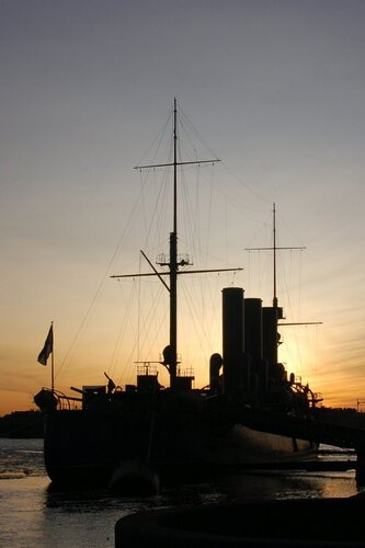 Аврора на фоне восхода
