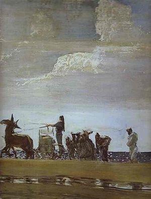 В.Серов. Одиссей и Навсикая