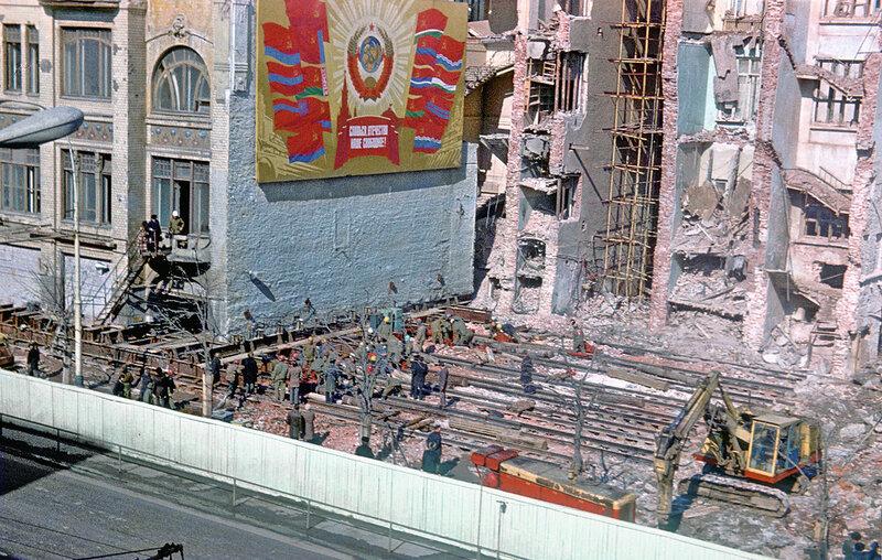 Так двигали дом-памятник в Москве в 1979 г.