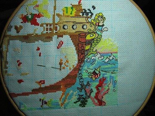 Схема для вышивки пираты 506