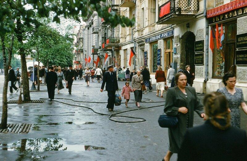 1952-54 Киев, Красноармейская улица. Martin Manhoff.jpg