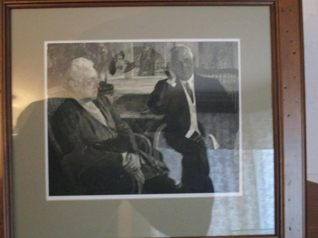 М.В.Нестеров. Фотография с несохранившегося двойного портрета Тютчевых.