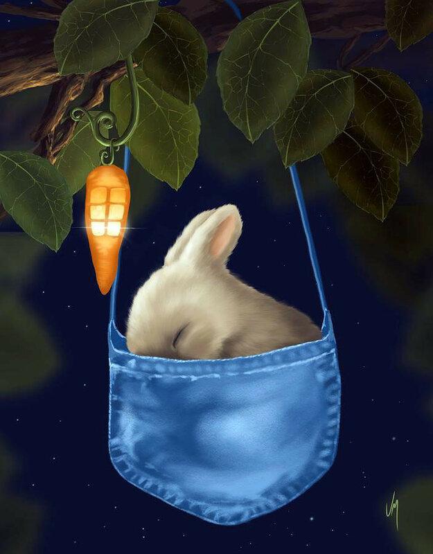 Животные анимация картинки спокойной ночи