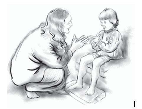 Подражайте жестам ребенка