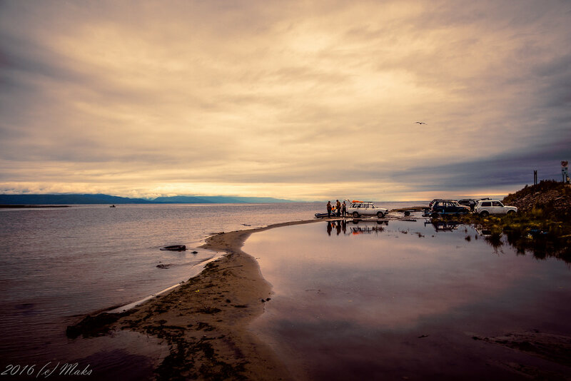 Закат в Нижнеангарске, Байкал