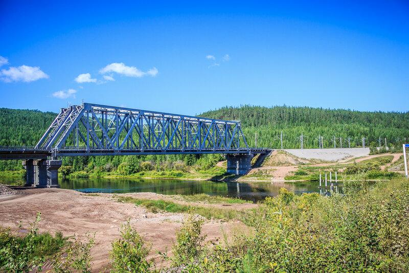 Ж\д мост через реку Таюра