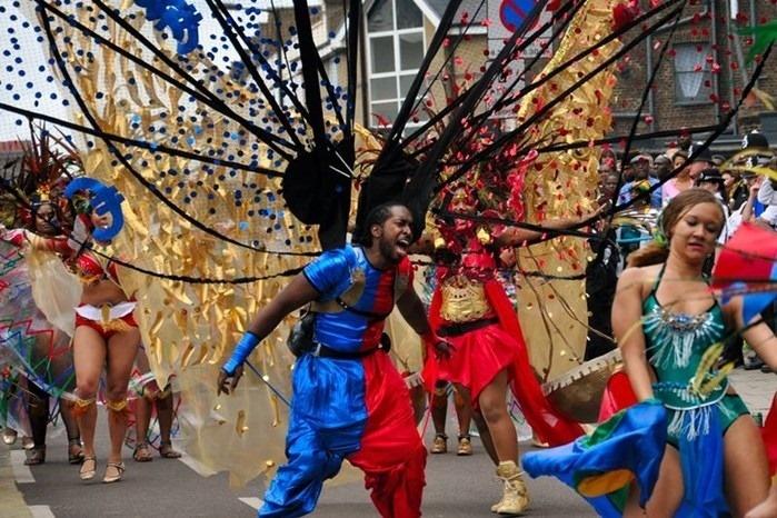Праздничный карнавал в Ноттинг Хилле, Лондон. Фотографии