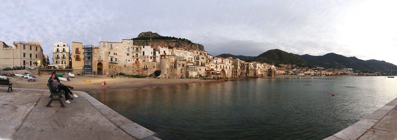 Sunset in Cefalù