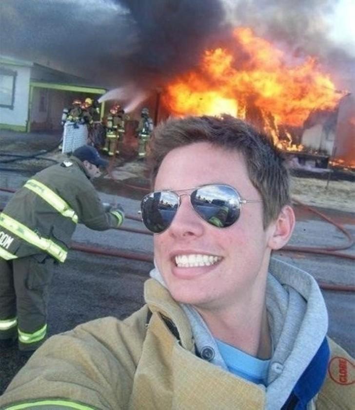 31. В то время, когда ты должен тушить пожар.