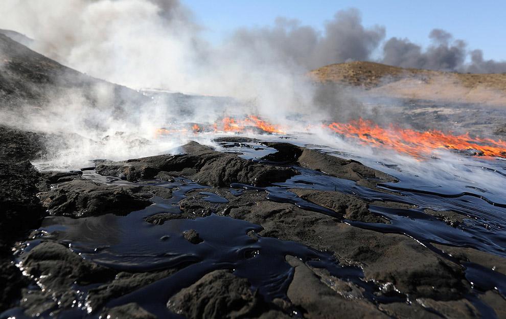 4. Из ядовитых нефтяных облаков на землю, людей и животных оседают мельчайшие капли нефтяных ма