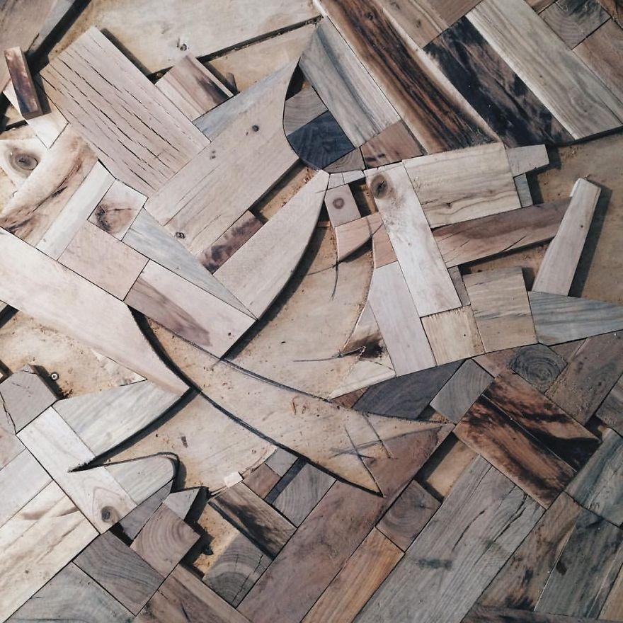 Для орнамента дерева на полу — клен, береза, сосна, лиственница, американская вишня, груша, вишня, д