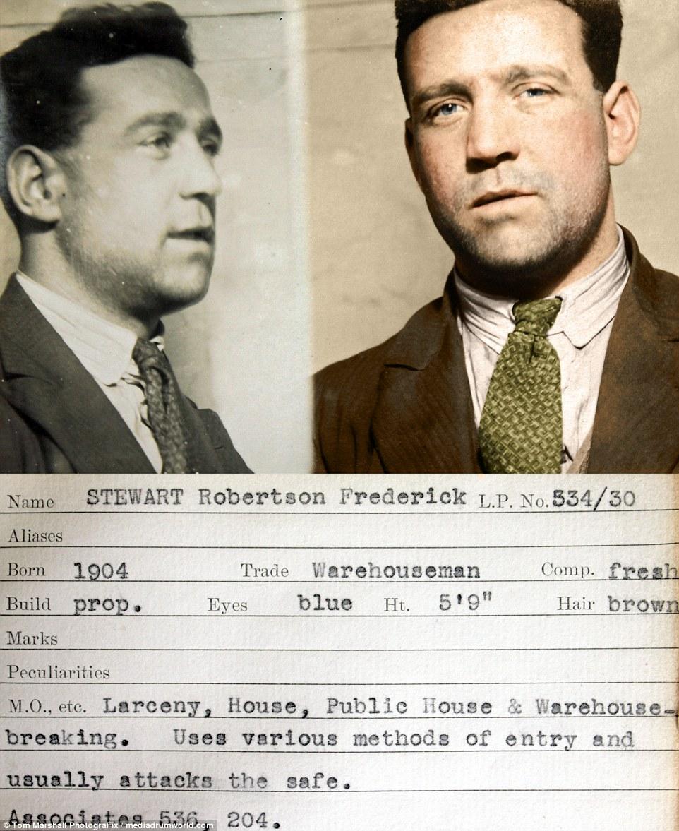 «Опытный преступник»: Фредерик Робертсон Стюарт, кладовщик, родившийся в 1904 году, использовал разн