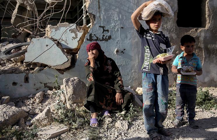 ВСирии 500 тыс. детей живут вусловиях блокады
