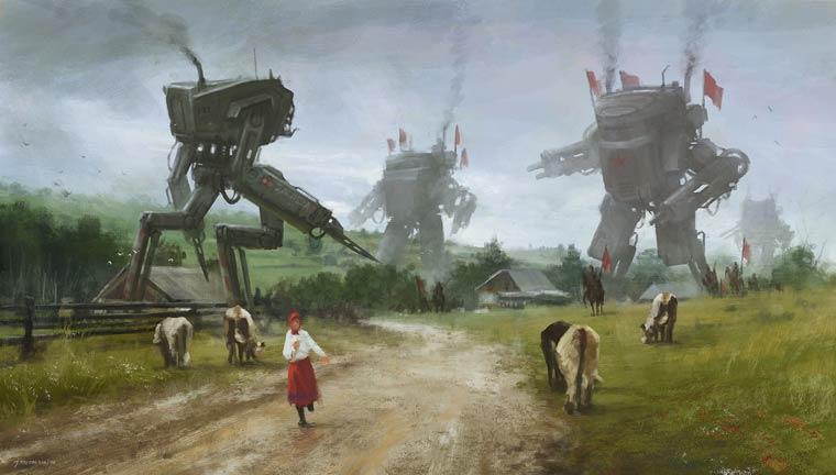 Vintage Future - Les sombres illustrations retro-futuristes de Jakub Rozalski