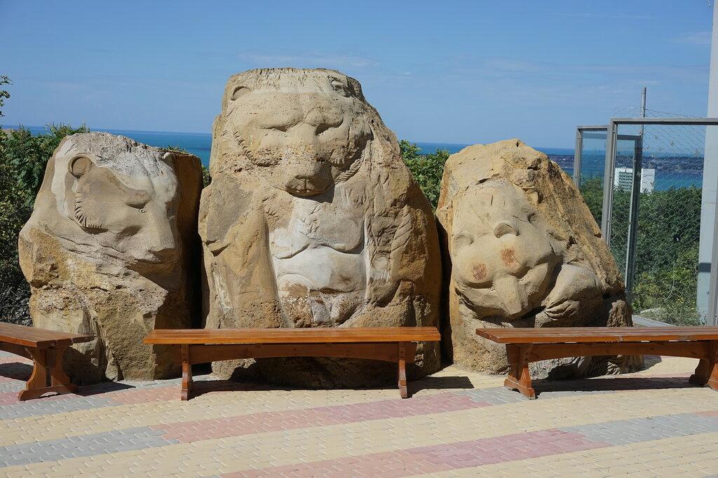 Статуи медведей в Сафари-парк, Геленджик.