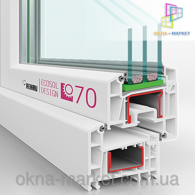 Пластиковые окна rehau ecosol 70 [044] 227/93/49