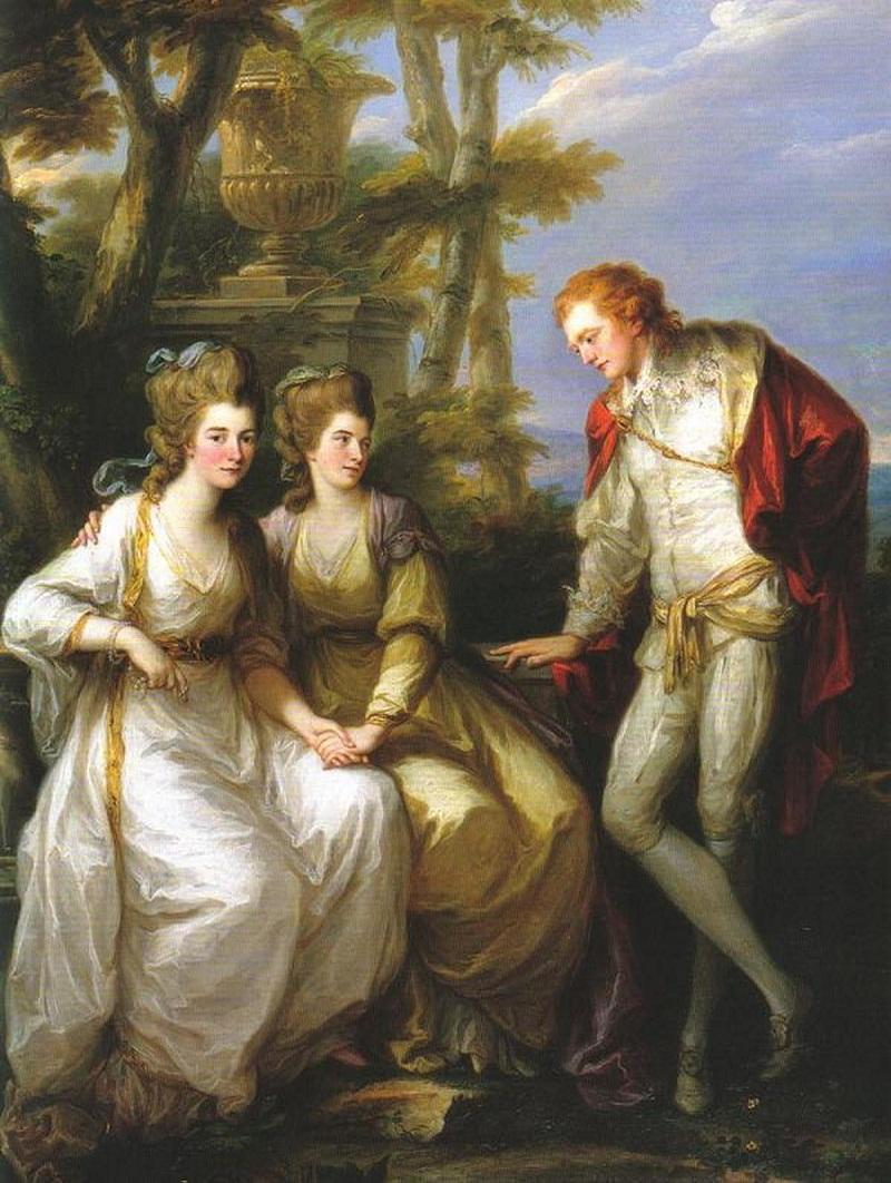 С ее братом и сестрой, Генриетта и Георгия , по Анжелики Кауфман.jpg