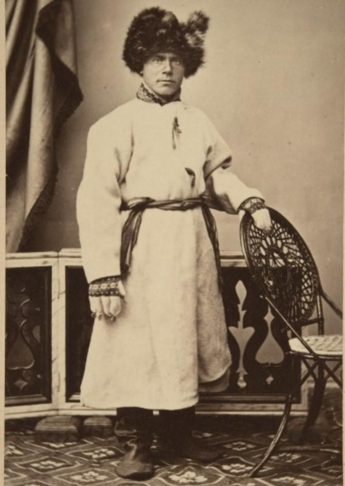 1868. Выборг. Мужчина в зимней одежде