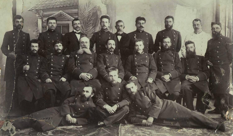 Учителя Киржачской Учительской Семинарии с П.А.Соловьевым (предпол.до 1895г)