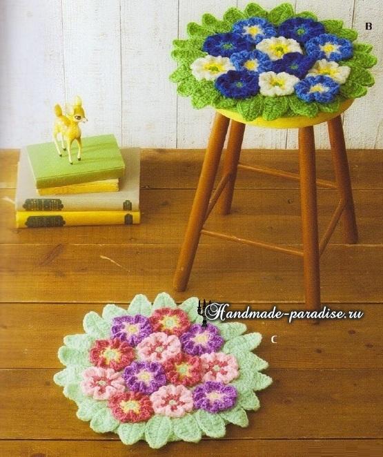 Схемы вязания крючком сидушек и ковриков (5)