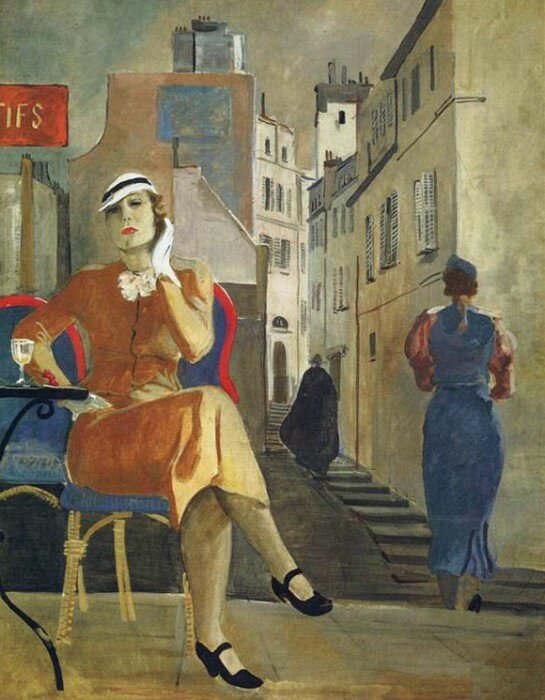 Александр Александрович Дейнека: 1935 Париж. В кафе.