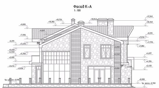 проект дома, фасад 4