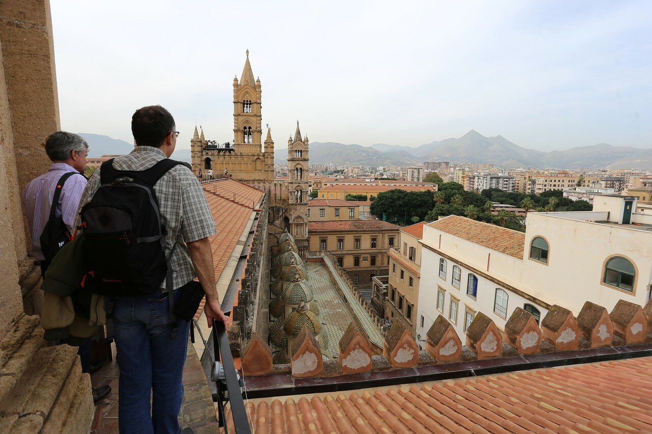 Palermo. Walk on the roof of the Cathedral