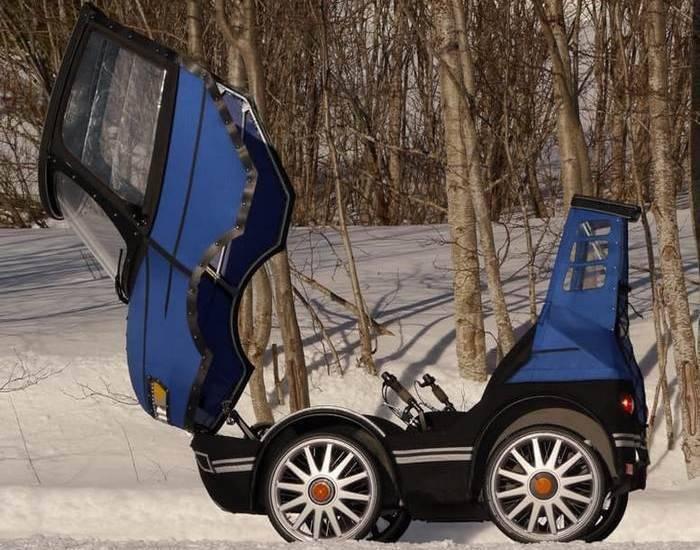 70-килограммовое творение Кьеллмана отличается от прочих веломобилей тем, что у него четыре колеса д