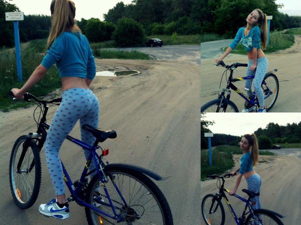 Велоняшки - прекрасные велосипедистки