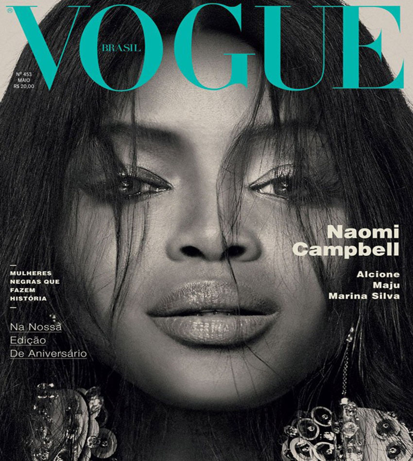 Naomi Campbell by Bob Wolfenson for Vogue Brasil (May 2016)