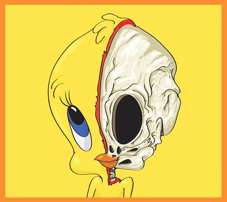 Cute Yellow - La pop culture dissequee par l'illustrateur Mahmoud Refaat