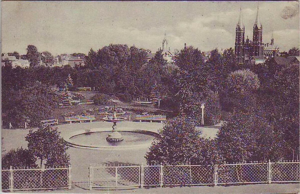 Карякинский сад и костел