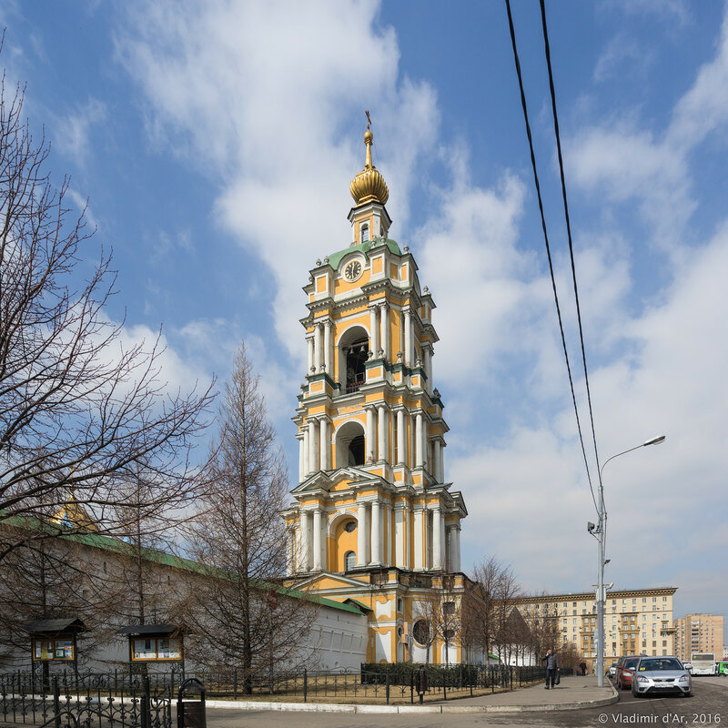 Колокольня с храмом преподобного Сергия Радонежского (XVIII век)