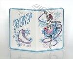 """Обложка на паспорт вышитая именная """"Снегурочка. Фигуристка"""""""