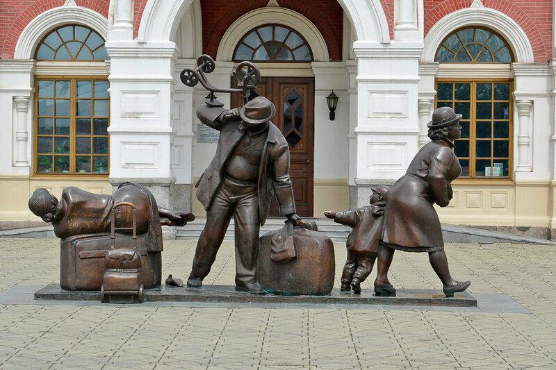 """Скульптура """"Пассажиры"""""""