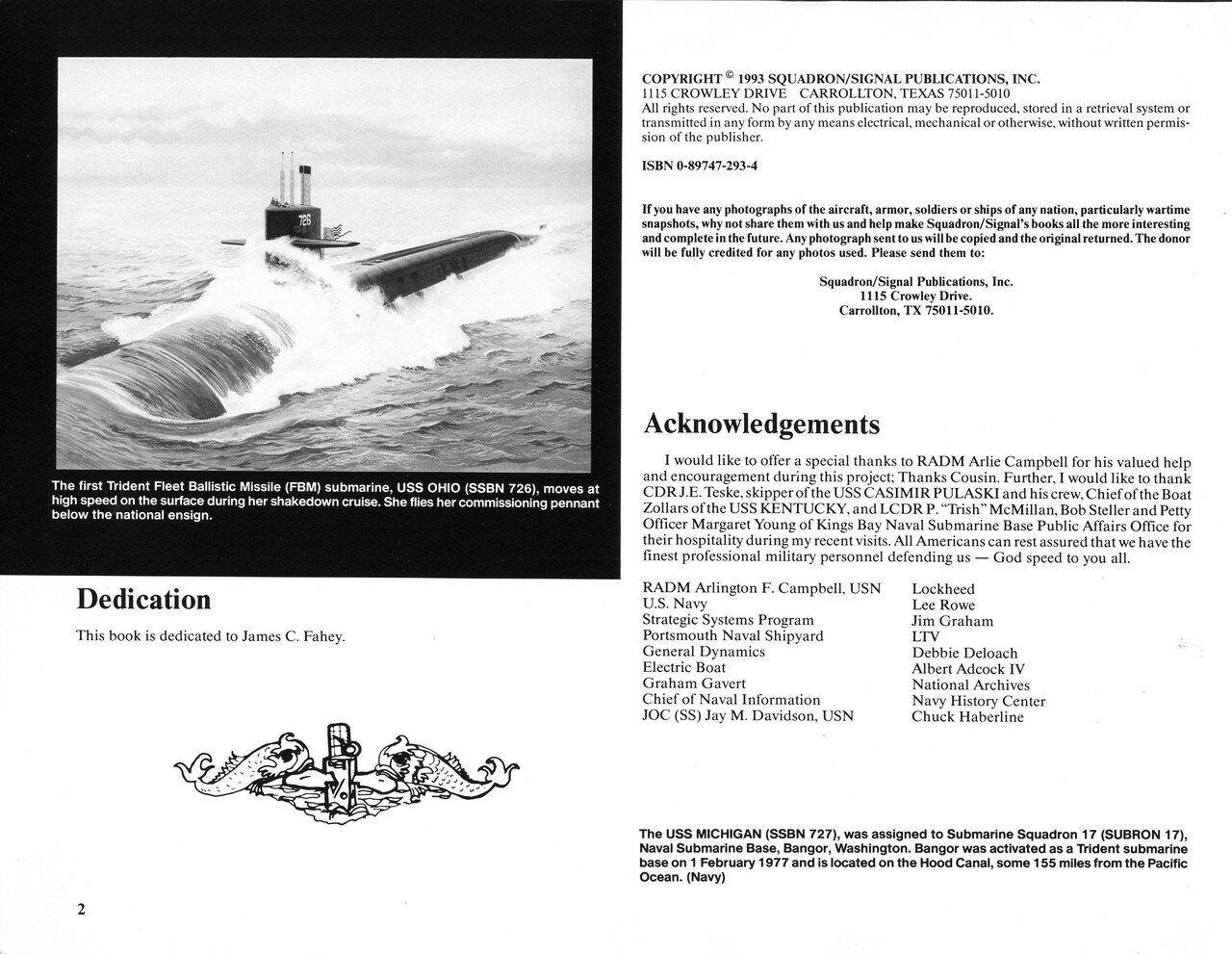 Squadron/Signal : WARSHIPS NO 6 , U S  Ballistic Missile Subs in