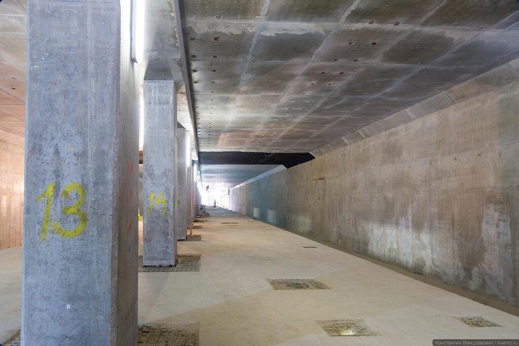 Оформление будет напоминать похожую по конструкции станции «Пятницкое шоссе», только оно будет менее радикальным