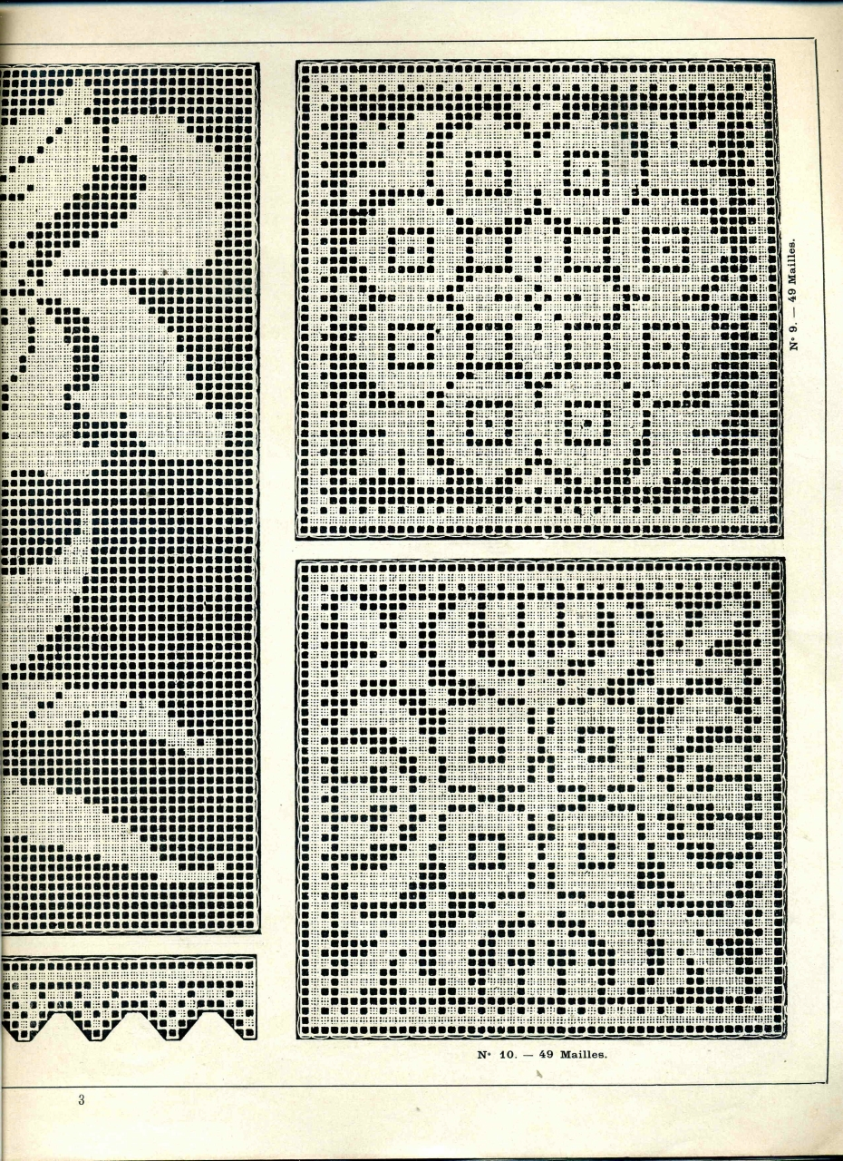 Красивые узоры филейного вязания