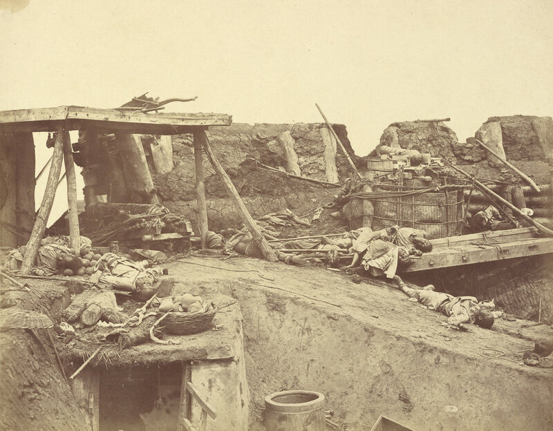 Interior of the English Entrance to North Fort on 21st August, 1860