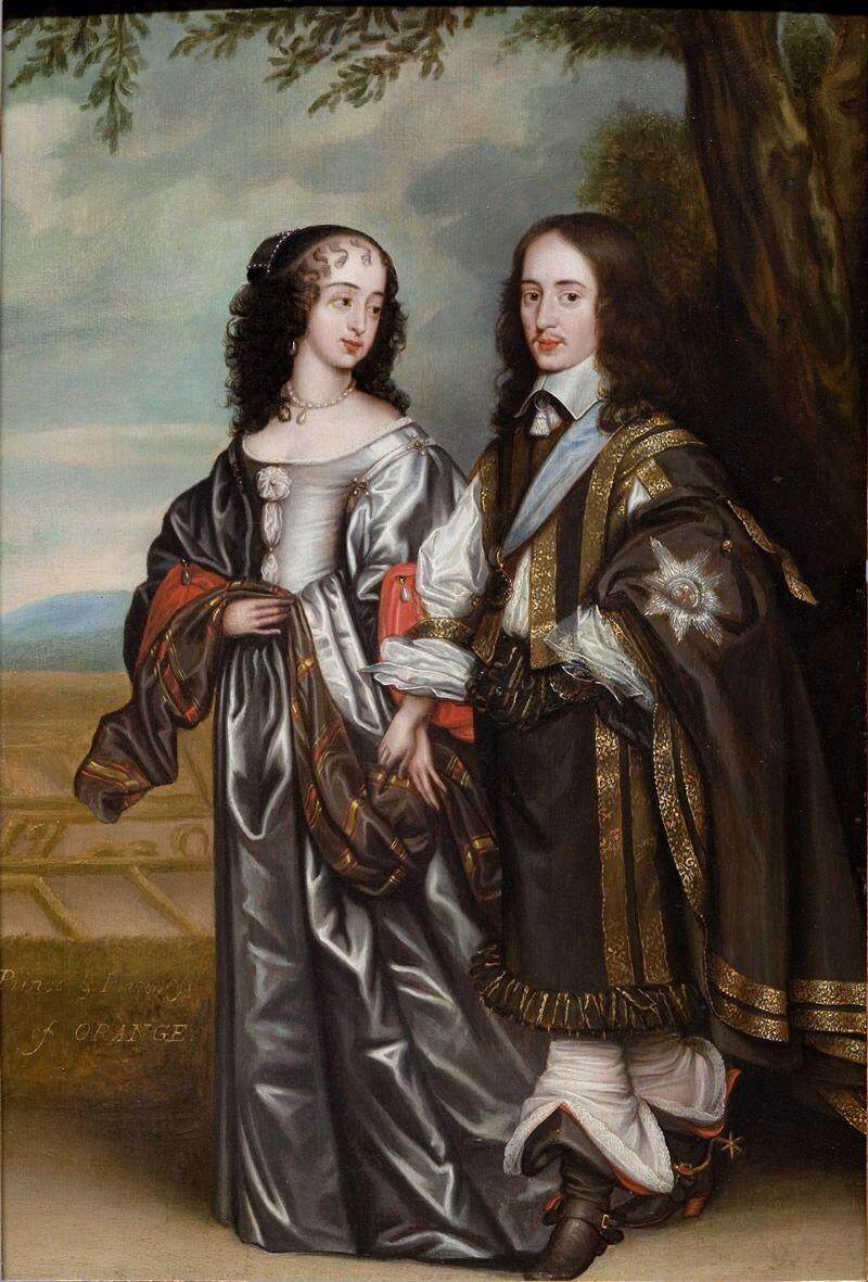 Prins Willem II en prinses Mary Stuart