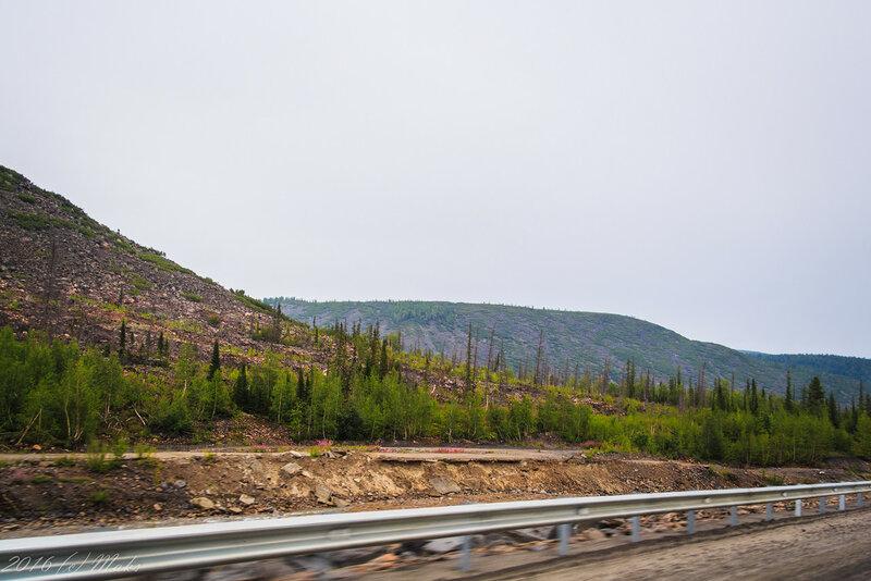 Один из новых кусков дороги на перевале Даван