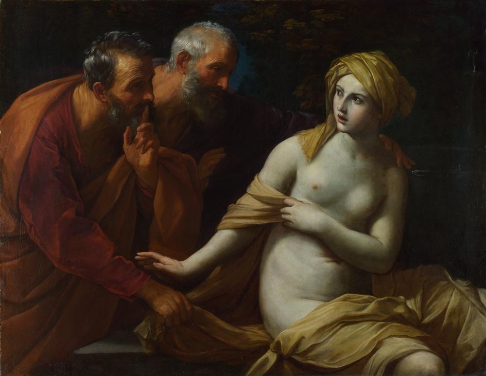 Притча о Сусанне и старцах. Reni Guido. Рени Гвидо,Национальная галерея, Лондон.