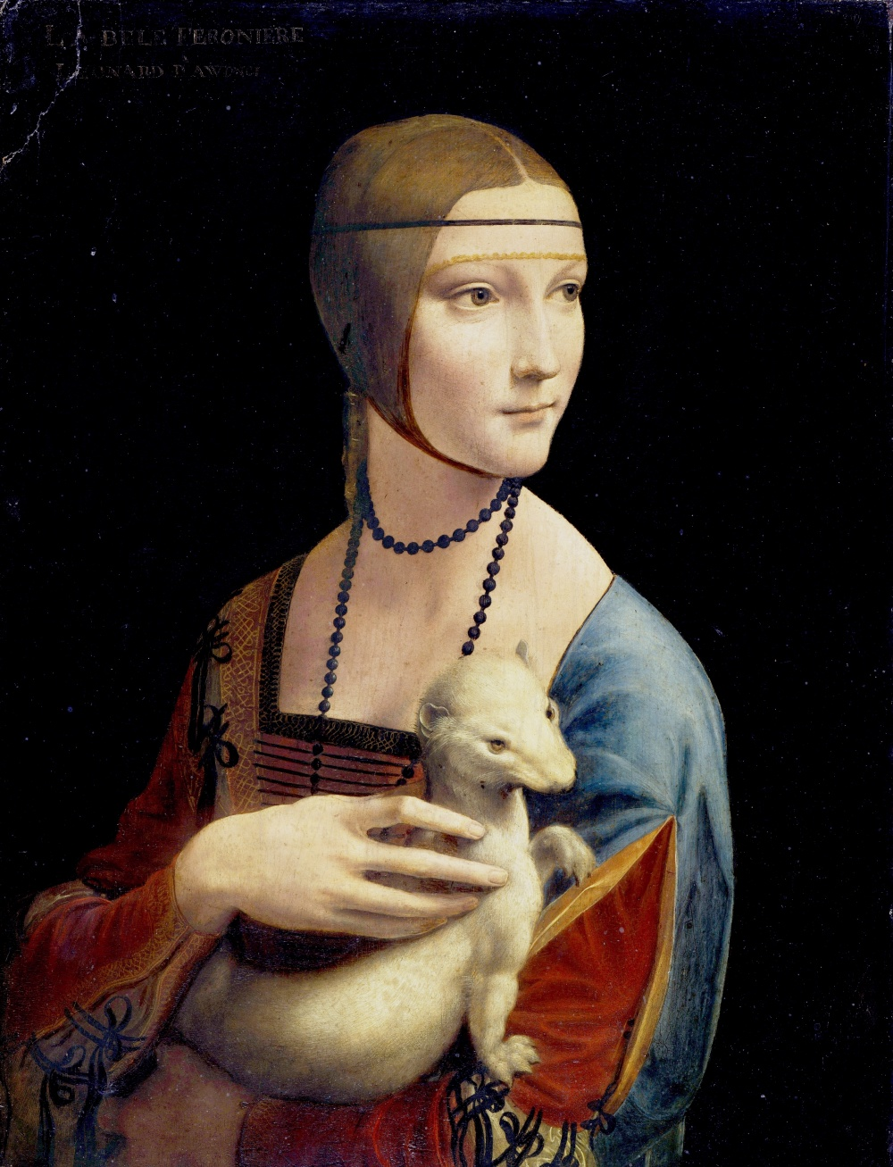 Леонардо даВинчи, «Дама сгорностаем», 1490