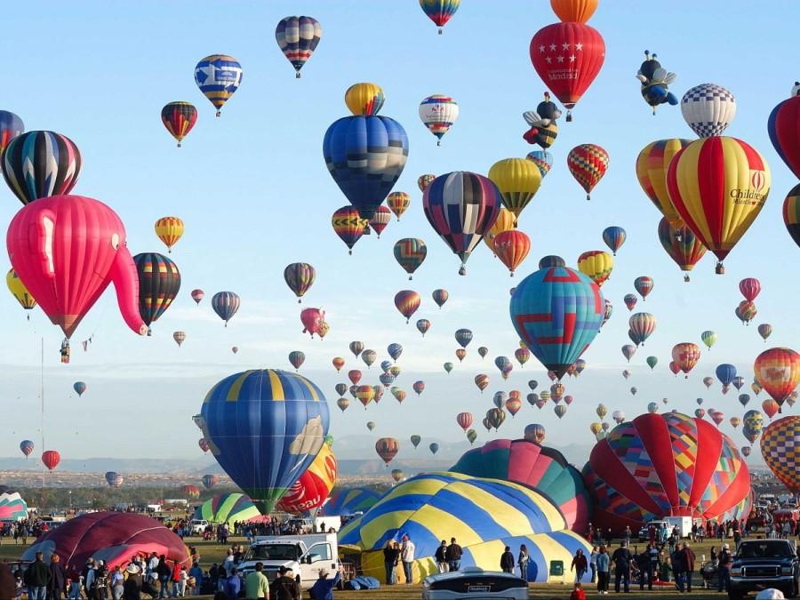 31. В Альбукерке, Нью-Мексико, ежегодно проходит Международный фестиваль воздушных шаров.