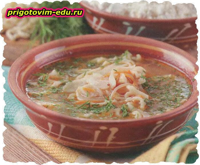 Суп с лапшой по-домашнему