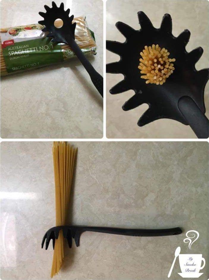 Зачем нужно отверстие в ложке для спагетти